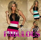 SEXY WOMEN'S MINI DRESS PARTY CLUBBING EVENING SUMMER Size 2 4 6 8 10 XS S M