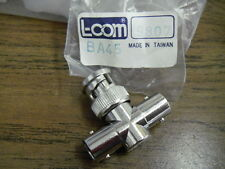 L-Com BA45 Auto Terminating T Adapter 50 Ohm Gold Plate Center Contact F-M-F