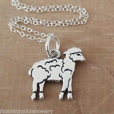 Lamb Necklace - 925 Sterling Silver - Lamb Charm Animal Sheep Jewelry *NEW*