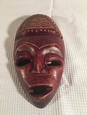 Primitive African Tribal Wooden Elongated Face Mask Hand Crafted - Brown