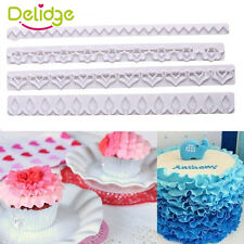 4Pcs Straight Frilling Gum Paste Frill Edge Cake Cookie Cutter Fondant Mold Tool