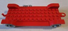 Lego Fabuland x612 Car Chassis 14 x 6 Old Red Rouge du 328 128 121 338