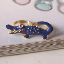 R73 Betsey Johnson Beach Crocodile Croco Alligator Gator Ring  US