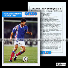 FRANCE - REPUBLIQUE TCHEQUE 17 AOUT 1994 & ZINEDINE ZIDANE - Fiche Football 1998