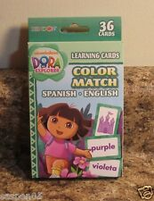 Dora The Explorer Color Match Learning Flash Cards Spanish and English New