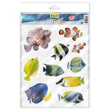 TetraDeco Tetra Deco Art Aquarium Glass Plastic Stickers Marine Fish Theme