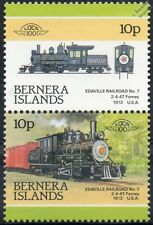 1913 Edaville Railroad No.7 2-4-4T Forney Train Stamps (Bernera)