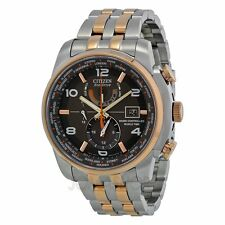 CITIZEN AT9016-56H ECO-DRIVE WORLD TIME A.T. RADIO-CONTROLLED TWO-TONE WATCH  UK