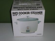Zojirushi NHS-10 RICE COOKER, 6 Cup Uncooked Rice Warmer & STEAM COOKER, White