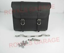 NEW CUSTOMIZED ROYAL BIKES BLACK  COLOR SADDLE BAG WITH FITTING STRIP 22