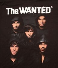 VINTAGE THE WANTED ROCK POP MUSIC CONCERT TOUR T SHIRT TEE TSHIRT ADULT XL NEW