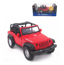 1:32 Open Jeep Wrangler RUBICON Diecast Sound Light Pullback Model Toy Car Red