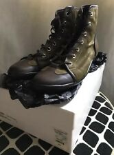 Yves Saint Laurent YSL Project Anders Boot Sneakers Olive Canvas Size 43