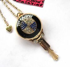 Betsey Johnson shiny crystal Famous brand car key pendant fashion Necklace#102LB