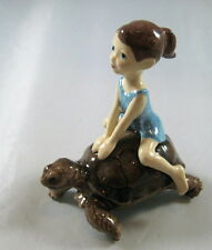 Hagen Renaker Specialties made in America Little Girl on Tortoise