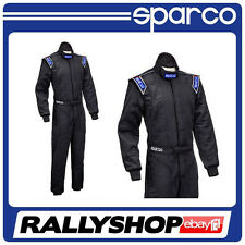 FIA Sparco Sprint RS-2 Race Suit, Size 50, Black, 2 Layer Racing Rally Track Day