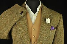 "Vtg Harris Tweed Herringbone Check Country Tailored Hacking Jacket 42"" #575 MINT"