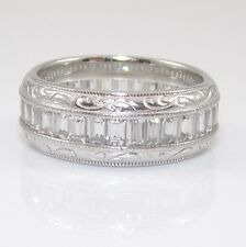 Tacori Sterling Silver Clear CZ Eternity Wedding Band Ring Size 8