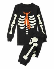 NWT Gymboree SKELETON Halloween Costume 2016 Pajamas/Gymmies Glow-In-The-Dark