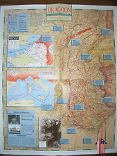 IMAGES OF WAR WWII CAMPAIGN MAP DRAGOON 15 AUGUST TO 15 SEPTEMBER 1944
