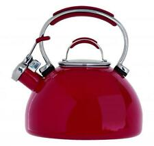 2L Prestige Stove Top Whistling Kettle for AGA RAYBURN Red