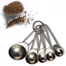 5pcs/Set Ensemble Cuillère à Soupe Mesure Cup Inox Durable Measuring Spoon Set