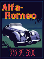 Vintage Alfa Romeo Advertising Poster A3 Reprint