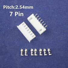 10 kits JST XH 2.5 7 pin JST Connector plug Male, Female, Crimps DIP 7P