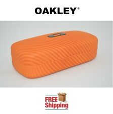 OAKLEY® SUNGLASSES EYEGLASSES SQUARE O HARD CASE PERSIMMON ORANGE NEW FREE SHIP