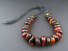 African Moroccan Amber Resin Beads - Graduated (Translucent Cherry) Morocco