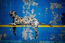 "118"" X 63"" LARGE  PAINTING STREET ART BANKSY GRAFFITI LEOPARD CAT NEW YORK"