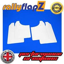 Rally Mudflaps to fit MG ZR Rover Mud Flaps rallyflapZ White No Logo 3mm PVC