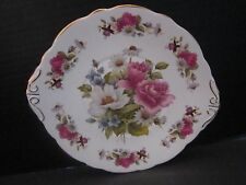 """Allyn Nelson Collection England Dinner Plate Handles Pink Roses Floral. 9"""""""