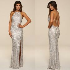 Honor Gold Luxe Harley Sequin Maxi Evening Dress Backless Long Ball Prom Gown