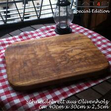 Servierbrett Servierplatte Schneidebrett Schneidbrett Olivenholz Holz Brett 60cm