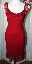 VINTAGE 90'S BETSEY JOHNSON WIGGLE DRESS RED