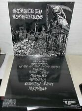 2 STRUCK BY LIGHTNING TRUE PREDATION TOXIC ASSETS TOX-03 DEATH METAL LP SEALED