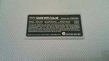 Nintendo Game Boy Color Replacement Model Info Sticker for POKEMON Console