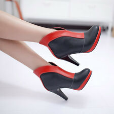 Ladies Womens Platform Pointed Toe High Heel Ankle Boots Shoes UK Size 1-12 A359