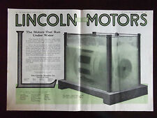 1918 Lincoln Electric Motors That Run Under Water Advertisement