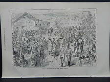 Illustrated London News Full-Page S8022 Sep 1871 Austrian Camp at Bruck, Evening