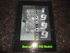 1999 ARCTIC CAT BEARCAT 340 440 SNOWMOBILE SLED SERVICE SHOP REPAIR MANUAL