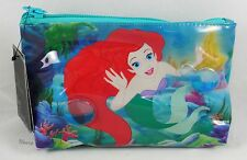 New Disney The Little Mermaid Ariel Swim Bubbles Cosmetic Make-Up Tote Bag Purse