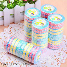 New 10pcs Compressed Reusable Washcloth Towel for Bath Face Clean & Travel