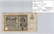 BILLET ALLEMAGNE - 5 RENTENMARK - 2-1-1926* - RARE!!!!