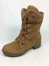 "ALDO ""Adianiel"" women boot  faux fur lined brown suede leather ankle fashion Sz6"