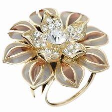 Rhinestone Crystal Jewelry Women Scarf Holder Flower Bouquet Bridal Brooch Pins
