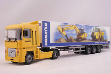 JOAL 373 Renault Magnum with Komatsu Heavy Machines Trailer Diecast Scale 1:50