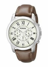 Fossil Men's FS4735 'Grant' Chronograph Brown Leather Watch