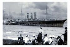rp3132 - American Liner Paris aground on The Manacles , Cornwall - photograph